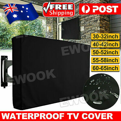 AU24.95 • Buy 30 -65  Waterproof TV Television Cover Outdoor Patio Flat Television Protector