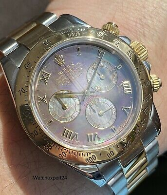 $ CDN17754.83 • Buy Rolex Daytona 116523 Bi-color Letter Y MOP Dial Fully Linked.
