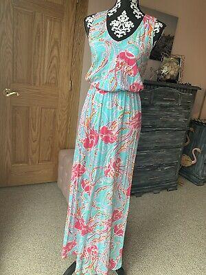 $21.50 • Buy Lilly Pulitzer Cotton Racerback Maxi Dress Small