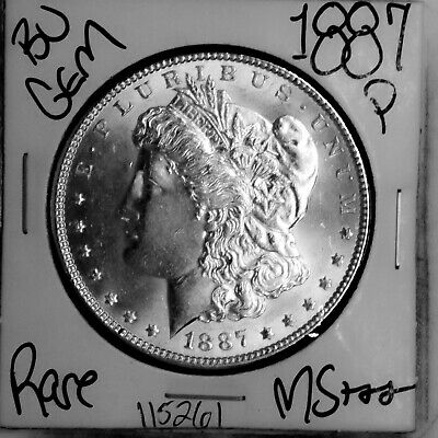 $0.99 • Buy 1887 GEM Morgan Silver Dollar #115261 BU MS+++ UNC Coin Free Shipping