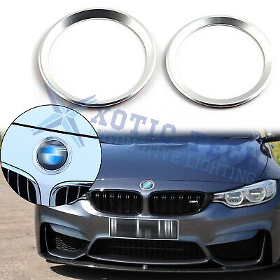 $12.88 • Buy Silver Front Rear Logo Surrounding Ring For BMW 3 4 Series 82 Mm & 74 Mm Emblem