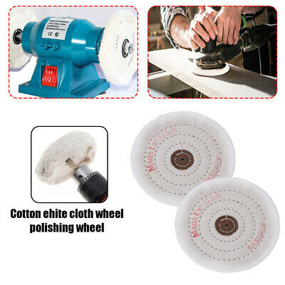 150mm 6  Spiral Stitched Cotton Buffing Polishing Wheel Mop Bench Grinder • 5.59£