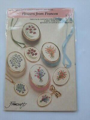 Framecraft Cross Stitch Charts Set 43 Flowers From France • 3.49£