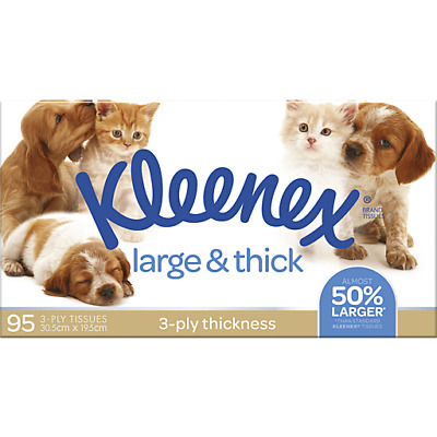 AU3.49 • Buy Kleenex 3 Ply Tissues Large & Thick 95's Kleenex