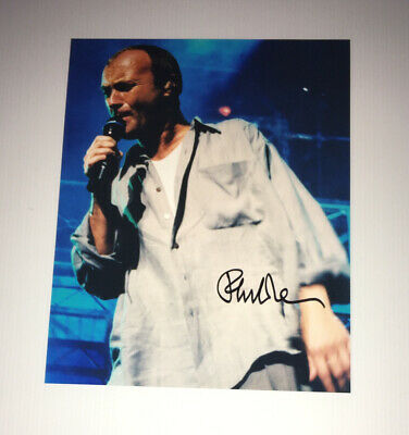 £99.99 • Buy SIGNED PHIL COLLINS 10x8 PHOTO RARE GENESIS GABRIEL RUTHERFORD