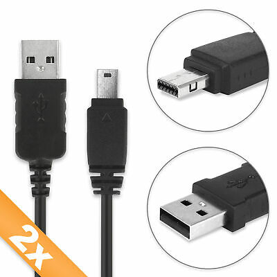 £21.90 • Buy 2x USB Cable Casio Exilim EX-FH100 Exilim EX-Z100 Connection Wire Black