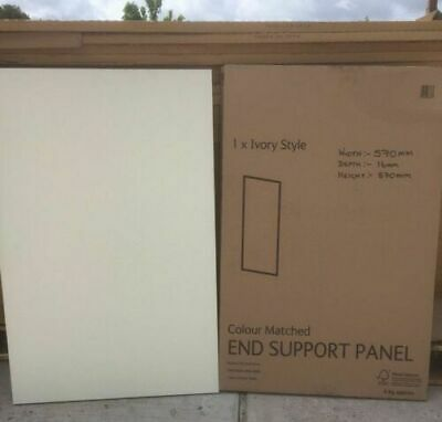 (CUT) End Clad On Base Panel Replacement WHITE / CREAM GLOSS Different Sizes • 20£