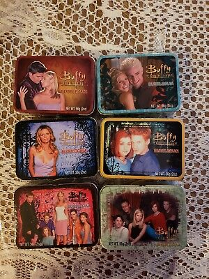 $14.95 • Buy Buffy The Vampire Slayer Mini Lunch Box Tin With Bubble Gum Set Of 6