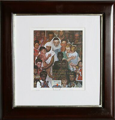 $ CDN745.65 • Buy Norman Rockwell, Do Unto Others As You Would Have Them Do Unto You, Lithograph,