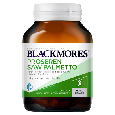 AU43 • Buy Blackmores Proseren Saw Palmetto 120 Capsules Supports Healthy Prostate Function