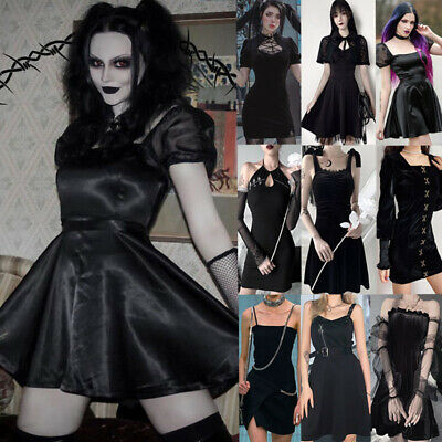 Gothic Punk Streetwear Dress Vintage Sexy Mini Casual Dress Party Club Clothes • 19.35£