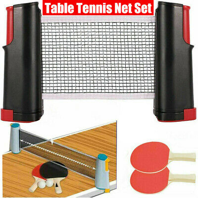 AU36.04 • Buy Retractable Portable Net Table Tennis Set: Paddle Bats&Post Ping Pong Kit