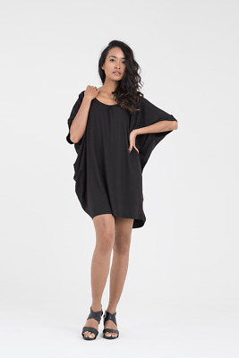 AU109 • Buy Donnah Clothing Cocoon Dress In Black
