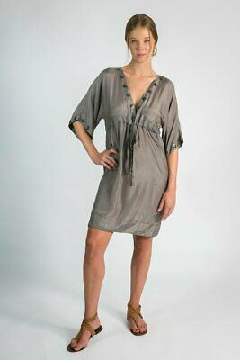 AU69 • Buy Donnah Clothing Rendezvous Silk Dress In Taupe