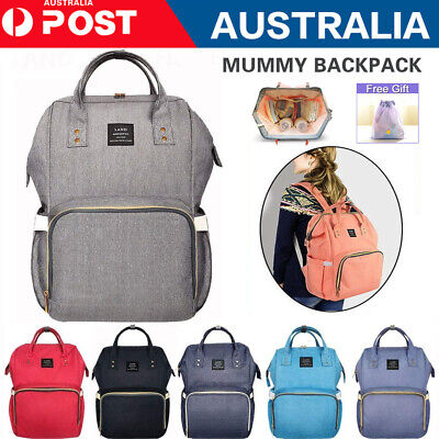 AU30.99 • Buy 2020 GENUINE LAND Multifunctional Baby Diaper Backpack Changing Bag Nappy Mummy