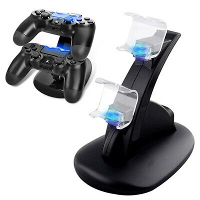 AU8.96 • Buy PlayStation PS4 Controller LED Charger Dock Station Dual USB Fast Charging UK