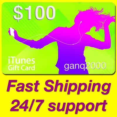 AU190 • Buy $100 APPLE US ITunes GIFT CARD Voucher Certificate FAST (USA ITunes Store USD)