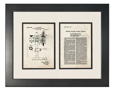 AU184.57 • Buy Drill Press Patent With Two Pages Old Look - Smooth Black Frame