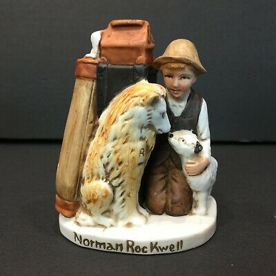 $ CDN13.69 • Buy Norman Rockwell Friends In Need Boy With Dogs Figurine 1980 Dave Grossman Design