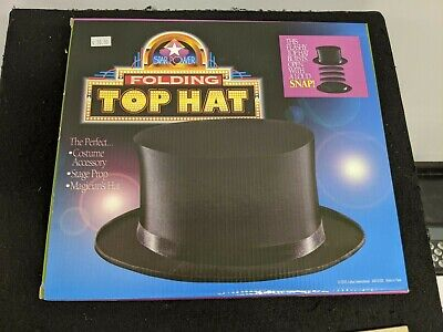 FOLDING TOP HAT Large Size - Magic Magician Illusion Collapsible • 3.71£