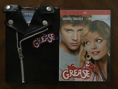 £14.41 • Buy Grease DVD Black Leather T-Birds Jacket Rockin' Rydell Edition + Grease 2 DVD