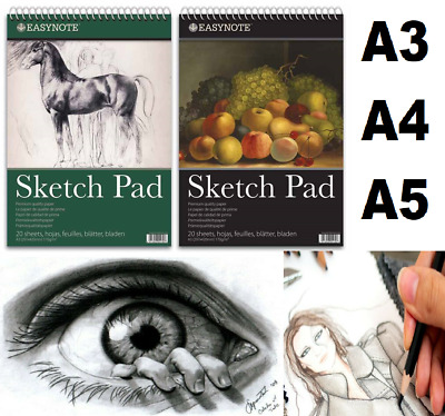 £6.99 • Buy Sketch Pad A4 A3 A5 Book White Paper Artist Sketching Drawing Doodling Art Craft