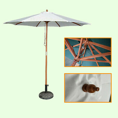 2.7M Patio Parasol Outdoor Table Umbrella W/ 8 Sturdy Ribs Wine Red Canopy KW27R • 29.99£
