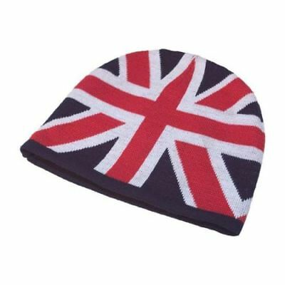 £5.99 • Buy Union Jack Knitted Wool Beanie Hat United Kingdom Loyalist Ulster Red White Blue