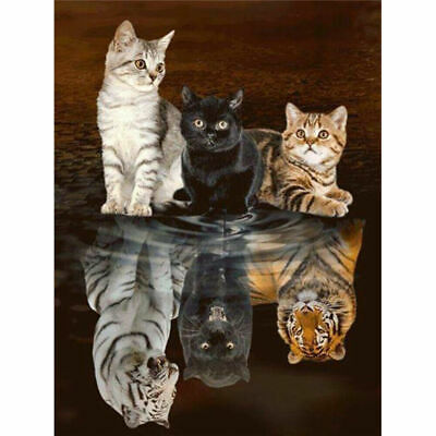 AU12.96 • Buy 5D Animals Diamond Painting Kits Full Drill Art Embroidery Decors Cats DIY Gifts