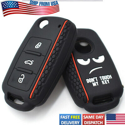 $8.99 • Buy Silicone Remote Key Case Fob Shell Cover For VW Golf GTI Rabbit CC Beetle Jetta