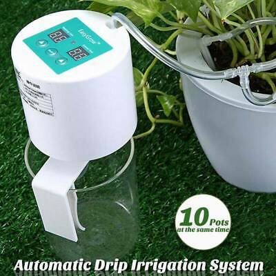 Automatic Drip Irrigation System Plant Self Watering Timer Holiday Greenhouse UK • 22.35£