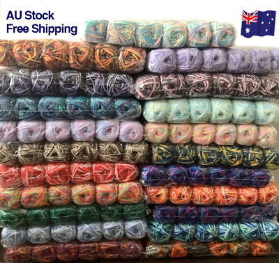 AU24.99 • Buy 8 X Knitting Yarn 8Ply Super Soft Crochet Craft Polyester 100g 90 Colours