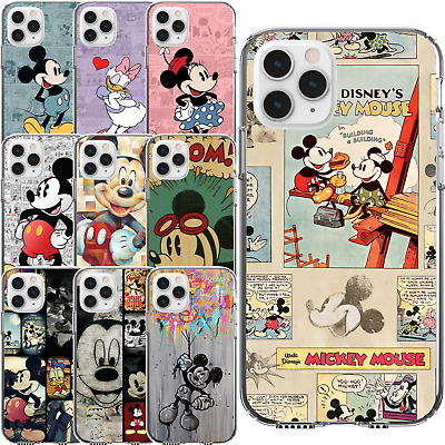 AU14.95 • Buy Silicone Cover Case Disney Mickey Mouse Minnie Daisy Duck Vintage Paint Style