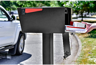 $187.58 • Buy Large Security Mailbox Mail Letter Box Locking Post Stand Secure Storage Postal