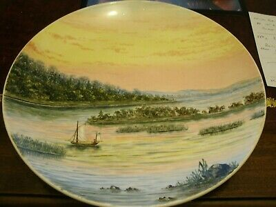 MINTON ! CABINET PLATE, VIEW ON THE SHANNON. 1870s • 110£