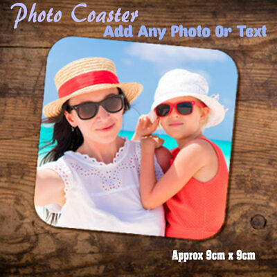 Personalised Photo Hardboard Coaster Custom Printed Drink Coaster 9cm Square • 2.79£