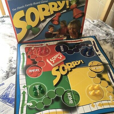 SORRY! Classic Fun Family Board Game Vintage Waddingtons 1996 90s Complete 5+ • 17£