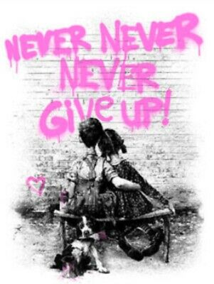$1250 • Buy Don't Give Up! Pink By Mr. Brainwash Ltd X/75 SIGNED Art Screen Print MINT Never