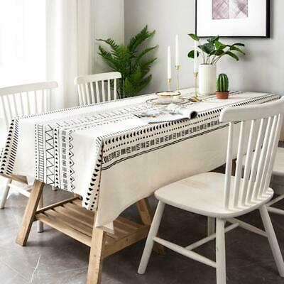 AU40.50 • Buy Linen Tablecloth Rectangular Dustproof Dining Table Cover Party Tabletop Decor