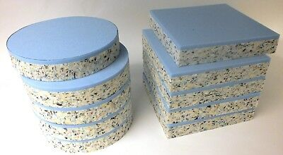 Upholstery Foam Cushion Bar Seats High Density Bonded Layer Pads Round Or Square • 8.99£