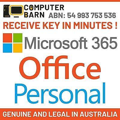 AU89.45 • Buy Microsoft Office 365 Personal - Use Across Multiple Devices - Get Key In Minutes