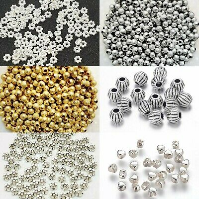 £2.39 • Buy  100 Psc Silver Spacer Beads For Jewellery Making Different Styles ,