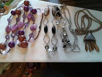 $ CDN11.28 • Buy Lot Of 3 Necklaces, 1 Lia Sophia, 2 Unmarked