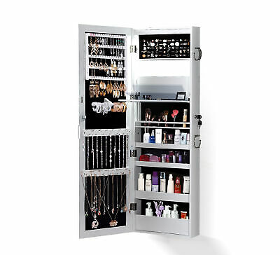 AU109.99 • Buy Mirror Jewellery Cabinet Storage Organiser Box Makeup Full Length DoorWall Stand