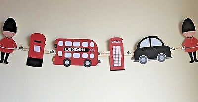 £8.99 • Buy London Theme Bunting Ideal For Children's Bedroom, Playroom Or Party Decoration