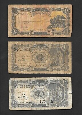 $2.99 • Buy Egypt 10 Piastres  X 3 Old Circulated Banknotes