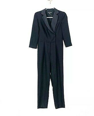 $24.99 • Buy Banana Republic Women's Size 0 Black Tuxedo Style 3/4 Sleeve Jumpsuit NWOT