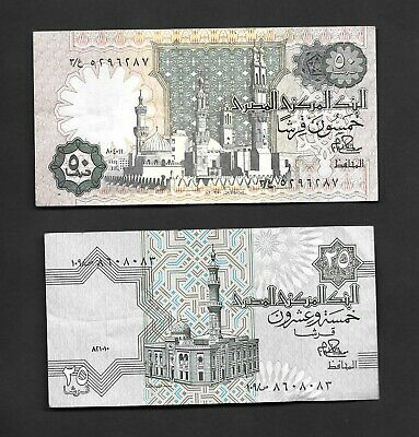 $3.99 • Buy Egypt 25 & 50 Piastres Circulated Banknotes