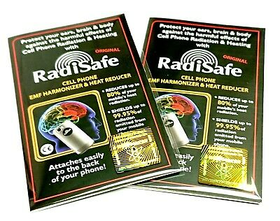 2x Radisafe Genuine Anti Radiation Phone Tablet Laptop Protect Yourself From EMF • 5.45£