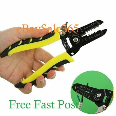 Automatic Cable Wire Crimper Crimping Tool Stripper Adjustable Plier Cutter FAST • 4.95£